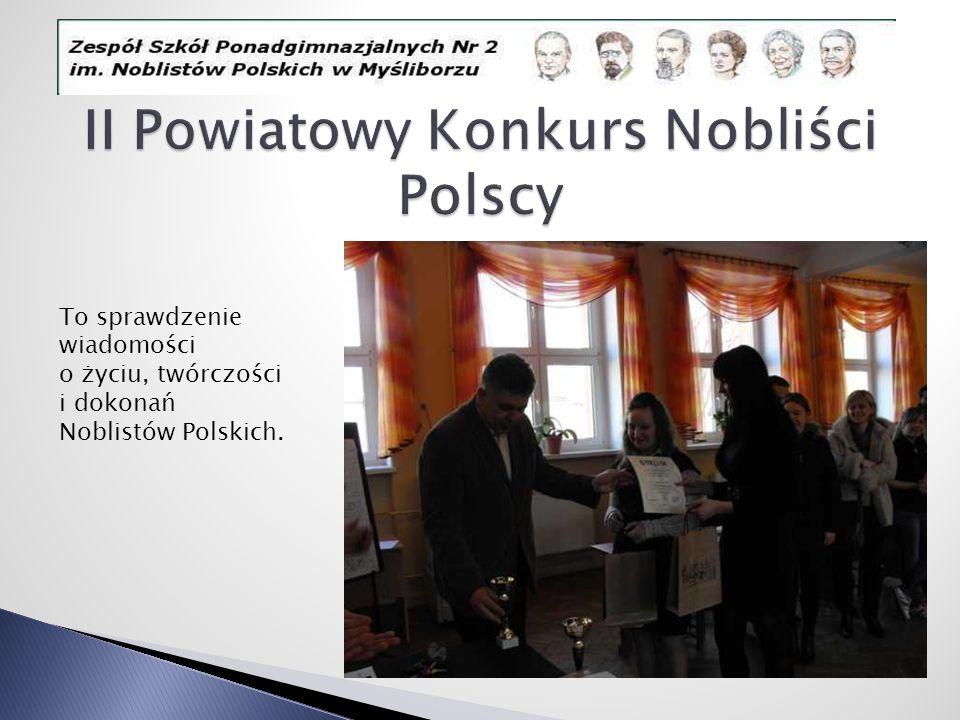 II Powiatowy Konkurs Nobliści Polscy