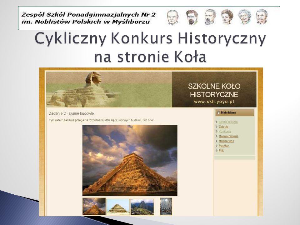 Cykliczny Konkurs Historyczny na stronie Koła