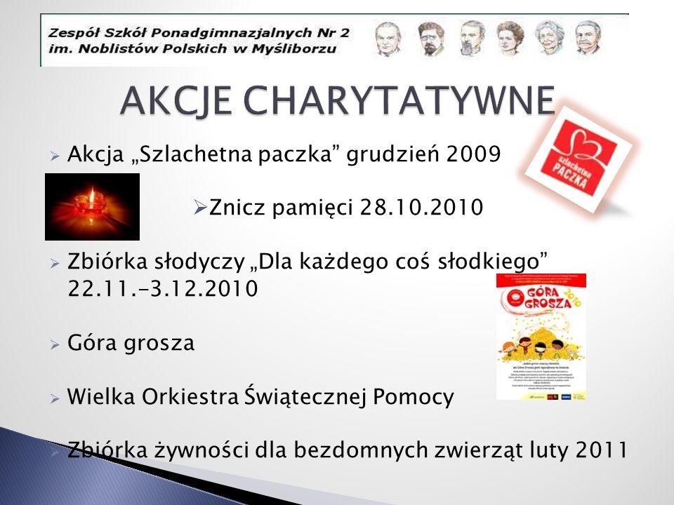 """AKCJE CHARYTATYWNE Akcja """"Szlachetna paczka grudzień 2009"""