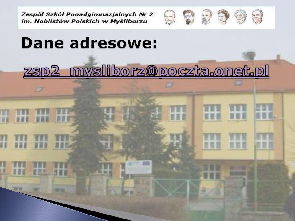 Dane adresowe: zsp2_mysliborz@poczta.onet.pl
