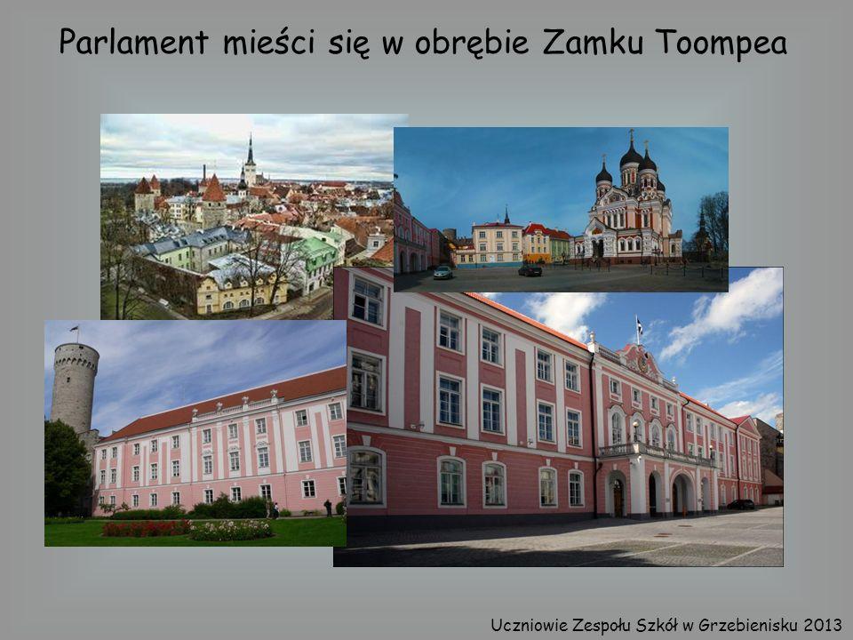 Parlament mieści się w obrębie Zamku Toompea