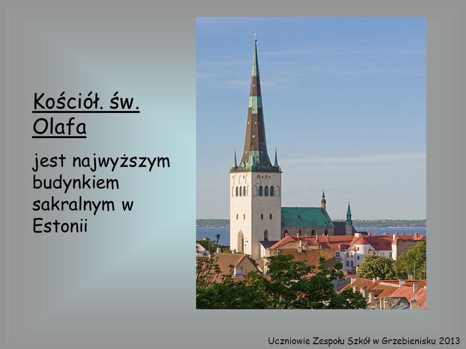 Kościół. św. Olafa jest najwyższym budynkiem sakralnym w Estonii