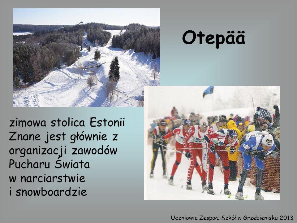 Otepää zimowa stolica Estonii Znane jest głównie z organizacji zawodów Pucharu Świata w narciarstwie