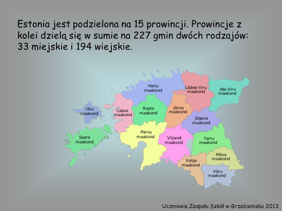 Estonia jest podzielona na 15 prowincji