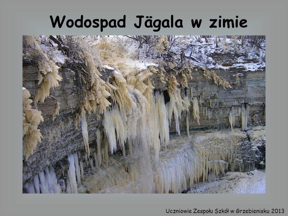 Wodospad Jägala w zimie
