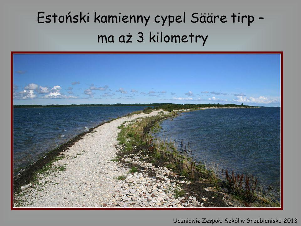 Estoński kamienny cypel Sääre tirp – ma aż 3 kilometry