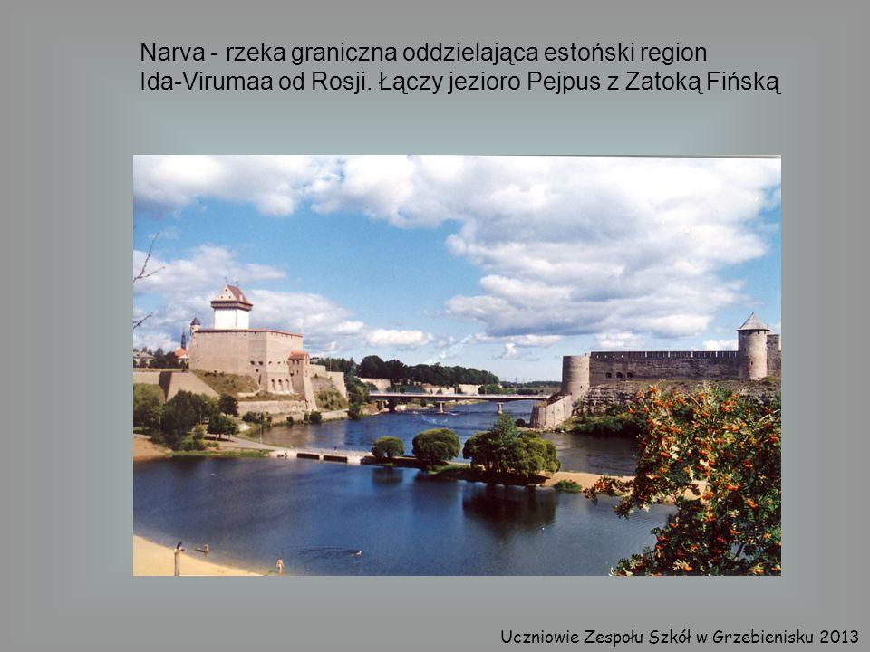 Narva - rzeka graniczna oddzielająca estoński region