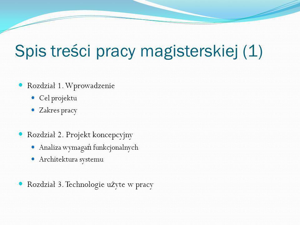 Spis treści pracy magisterskiej (1)