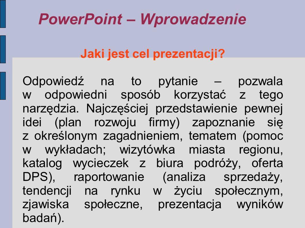PowerPoint – Wprowadzenie