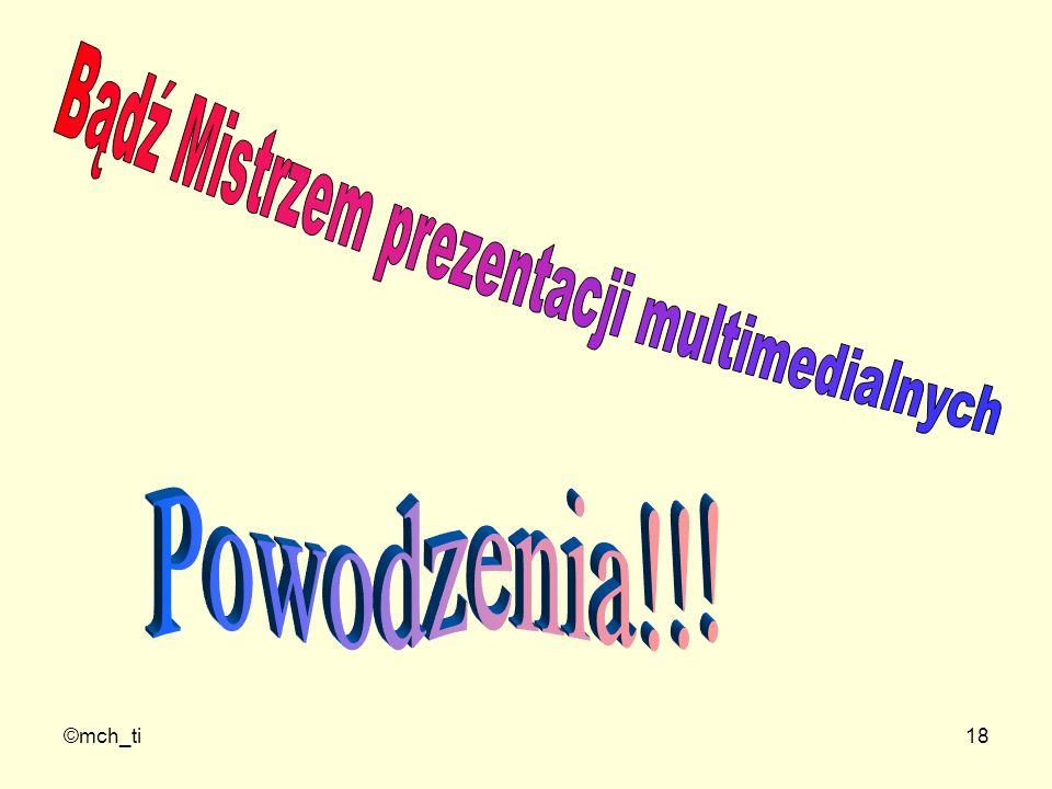 Bądź Mistrzem prezentacji multimedialnych