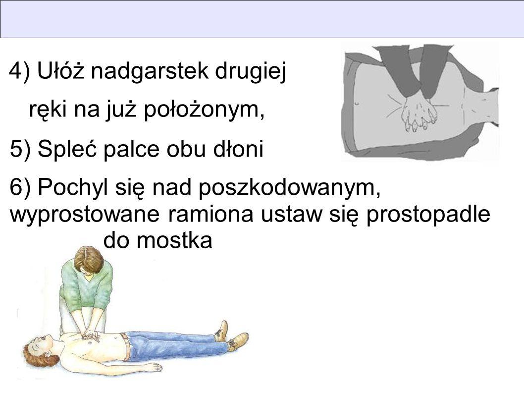 4) Ułóż nadgarstek drugiej