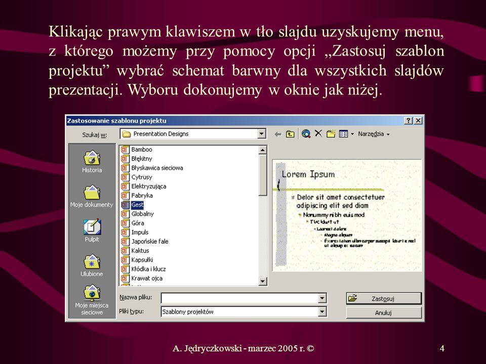 A. Jędryczkowski - marzec 2005 r. ©