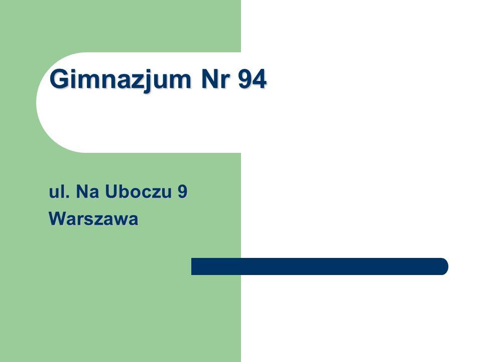 Gimnazjum Nr 94 ul. Na Uboczu 9 Warszawa