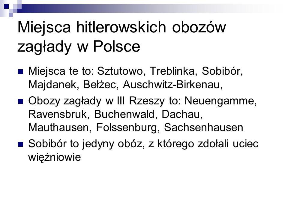 Miejsca hitlerowskich obozów zagłady w Polsce