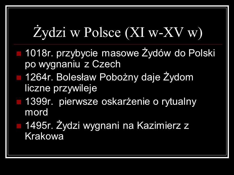 Żydzi w Polsce (XI w-XV w)