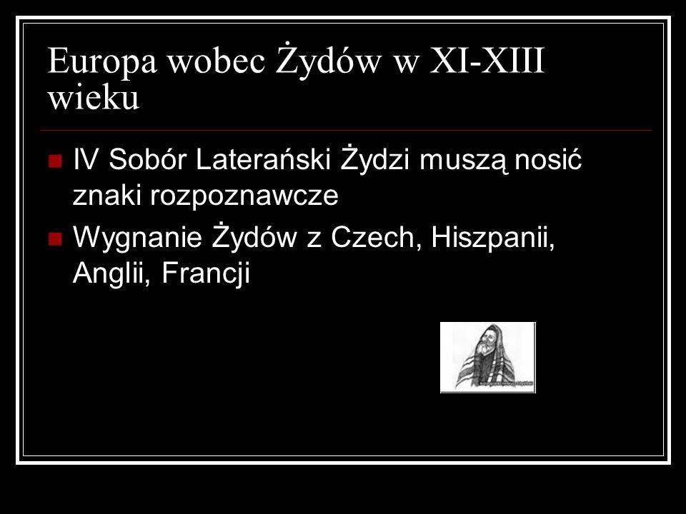 Europa wobec Żydów w XI-XIII wieku