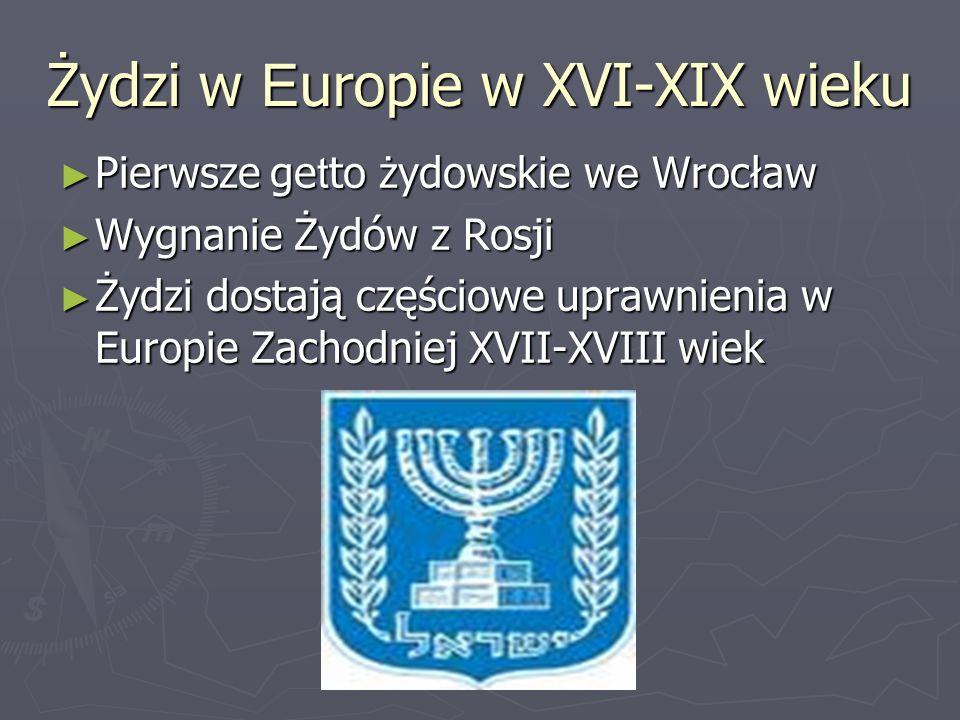 Żydzi w Europie w XVI-XIX wieku