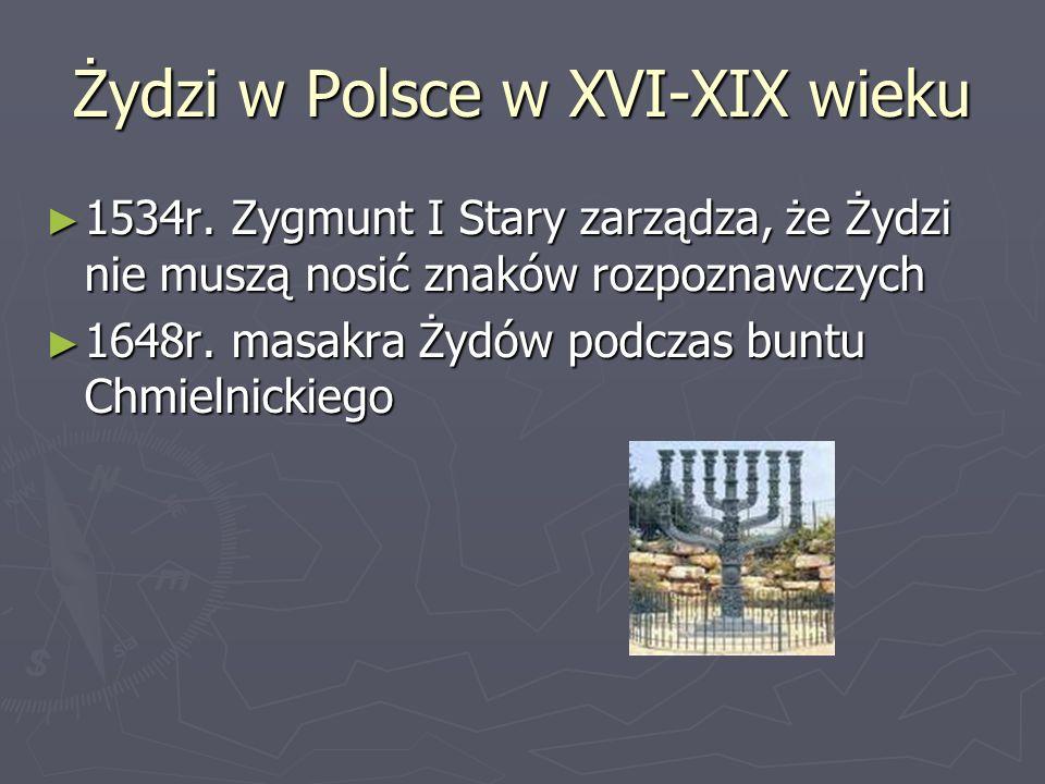 Żydzi w Polsce w XVI-XIX wieku