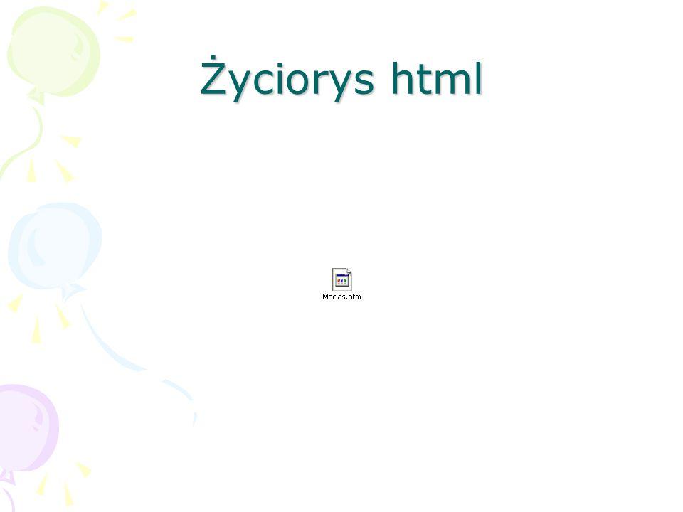 Życiorys html