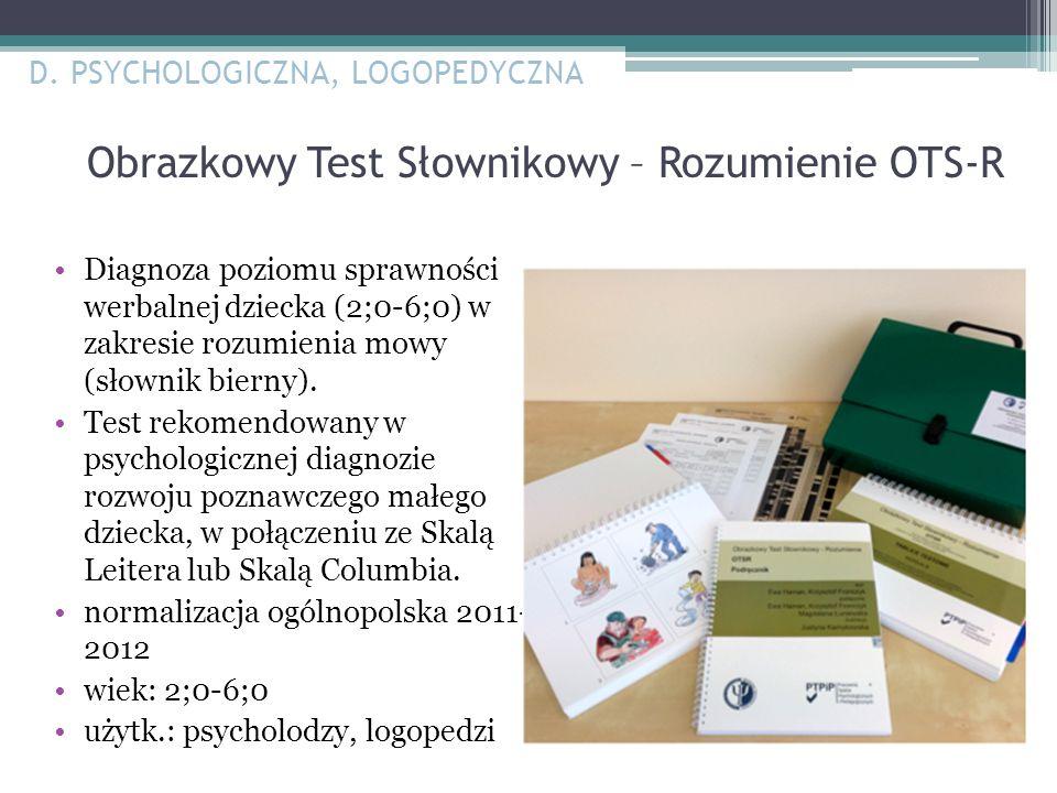Obrazkowy Test Słownikowy – Rozumienie OTS-R