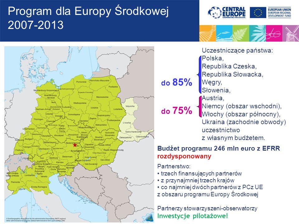 Program dla Europy Środkowej 2007-2013