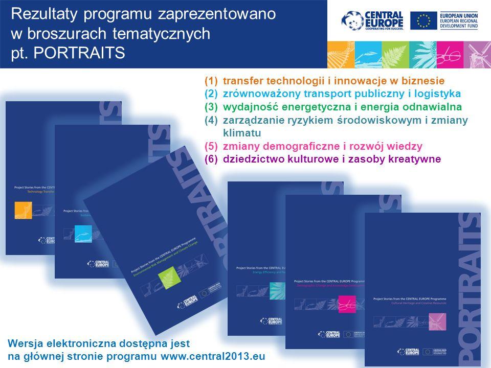 Rezultaty programu zaprezentowano w broszurach tematycznych pt