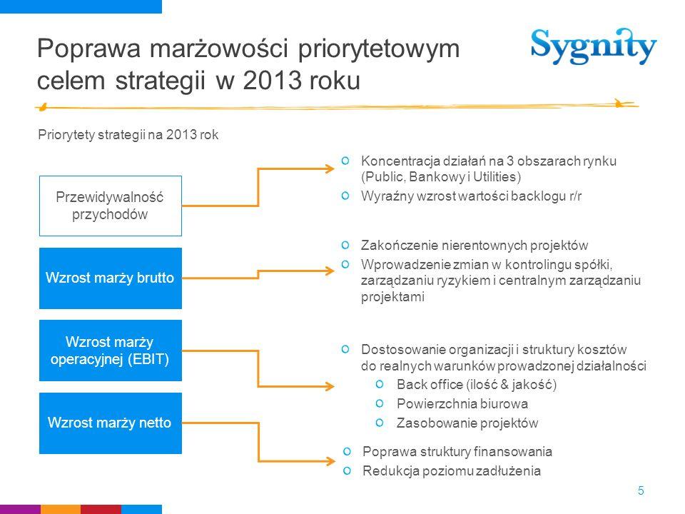 Poprawa marżowości priorytetowym celem strategii w 2013 roku