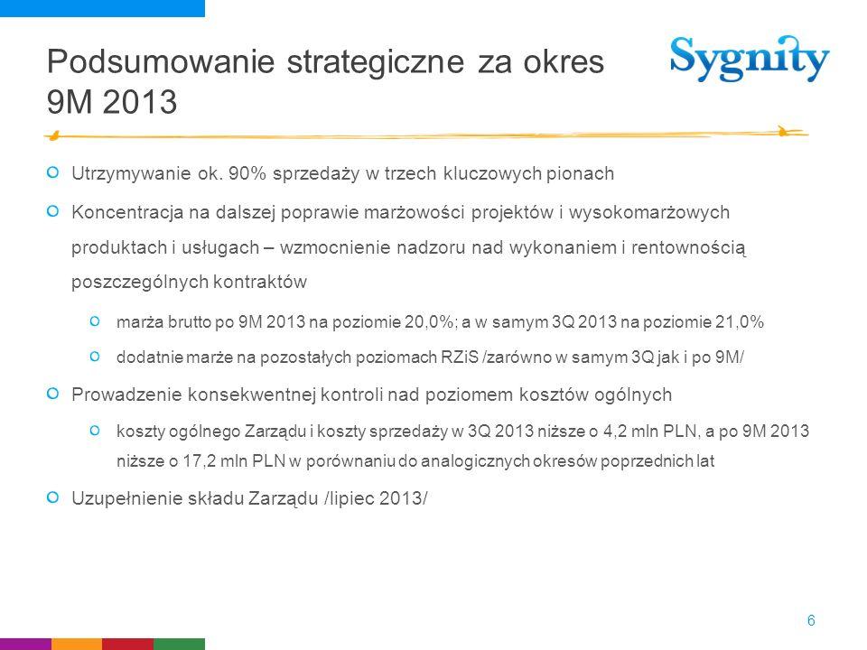 Podsumowanie strategiczne za okres 9M 2013