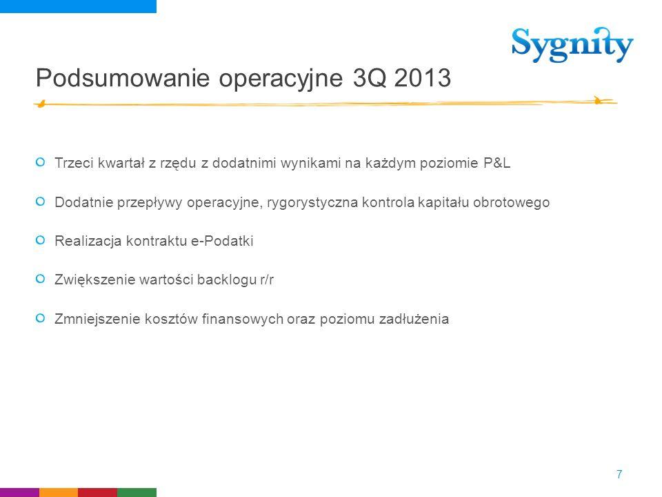 Podsumowanie operacyjne 3Q 2013