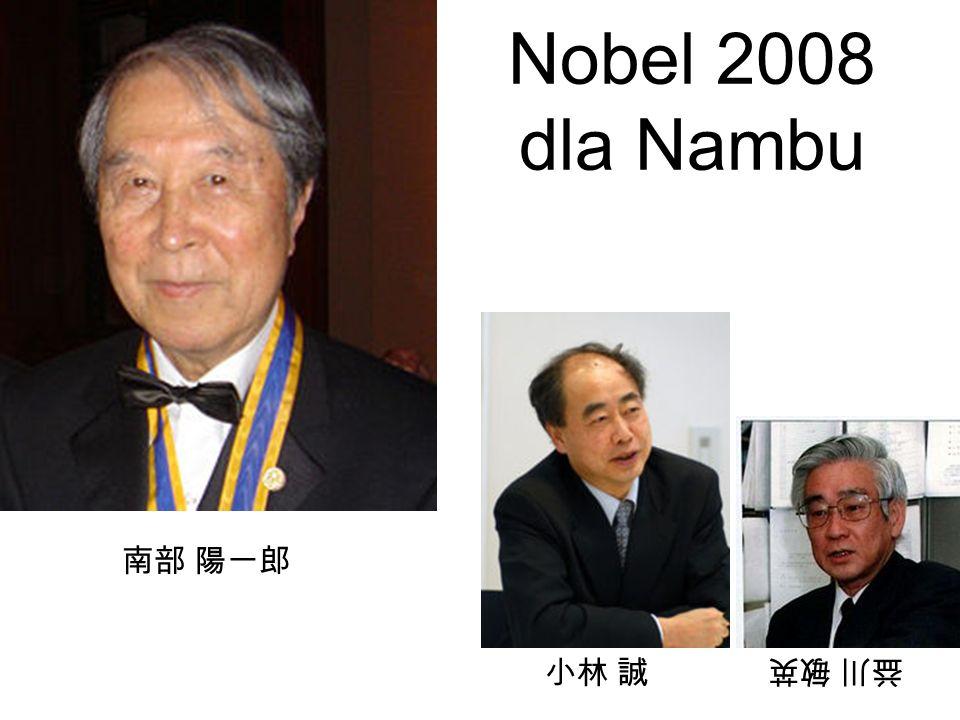 Nobel 2008 dla Nambu 南部 陽一郎 小林 誠 益川 敏英