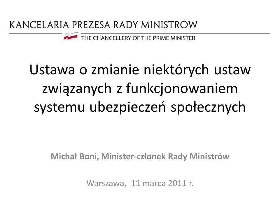 Michał Boni, Minister-członek Rady Ministrów