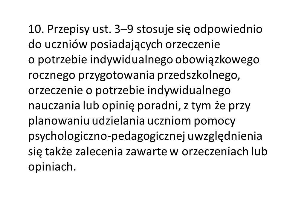 10. Przepisy ust.