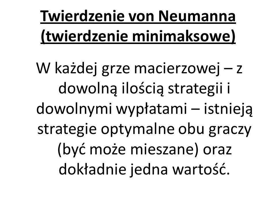 Twierdzenie von Neumanna (twierdzenie minimaksowe)