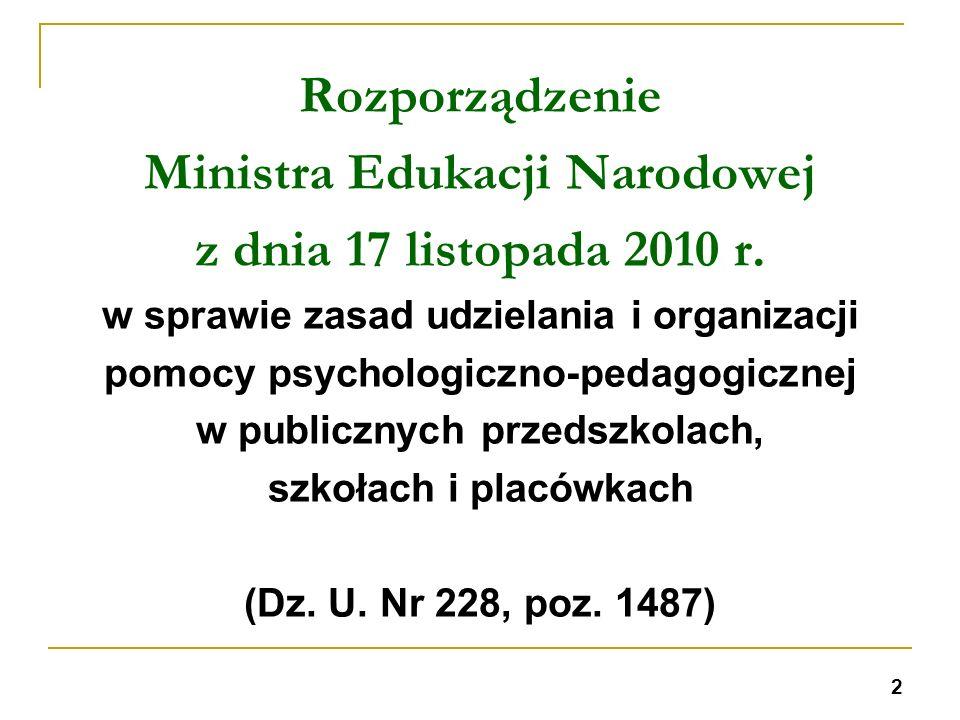 Ministra Edukacji Narodowej z dnia 17 listopada 2010 r.