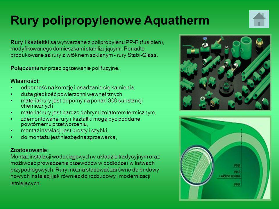 Rury polipropylenowe Aquatherm