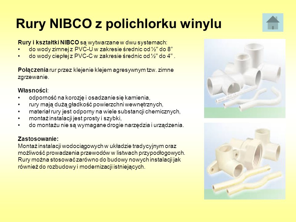 Rury NIBCO z polichlorku winylu