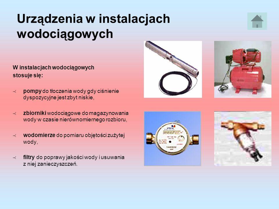 Urządzenia w instalacjach wodociągowych
