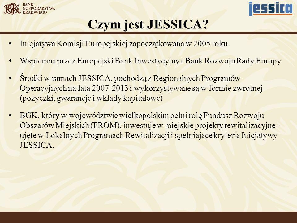 Czym jest JESSICA Inicjatywa Komisji Europejskiej zapoczątkowana w 2005 roku.