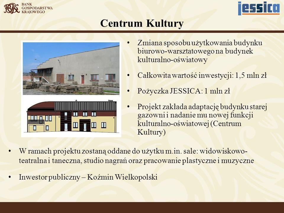 Centrum Kultury Zmiana sposobu użytkowania budynku biurowo-warsztatowego na budynek kulturalno-oświatowy.