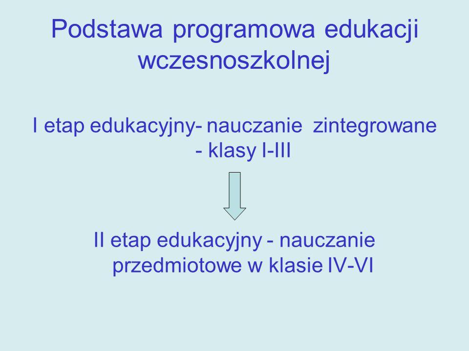Podstawa programowa edukacji wczesnoszkolnej
