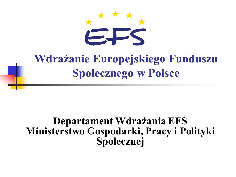 Wdrażanie Europejskiego Funduszu Społecznego w Polsce