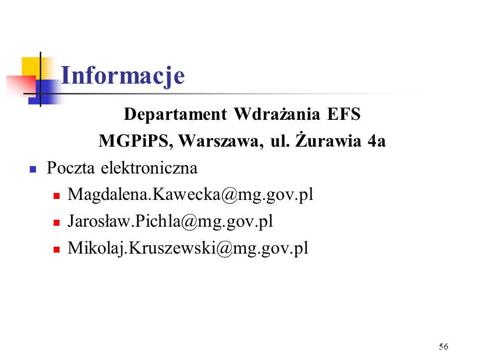 Departament Wdrażania EFS