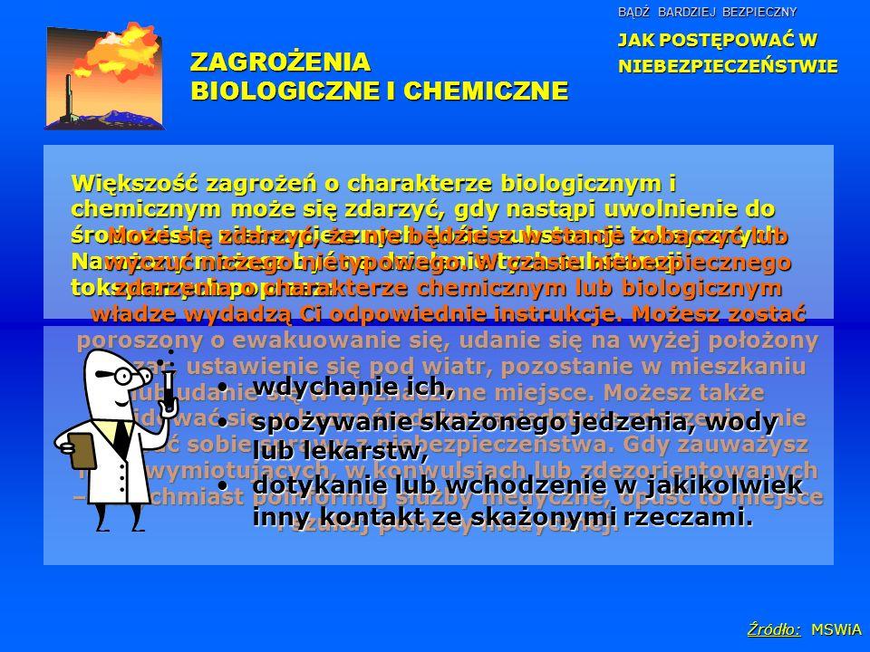 BIOLOGICZNE I CHEMICZNE
