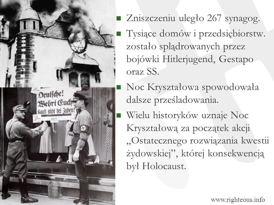 Zniszczeniu uległo 267 synagog.