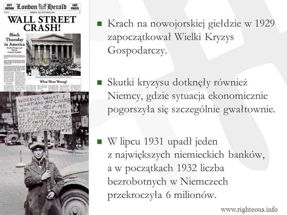 Krach na nowojorskiej giełdzie w 1929 zapoczątkował Wielki Kryzys Gospodarczy.