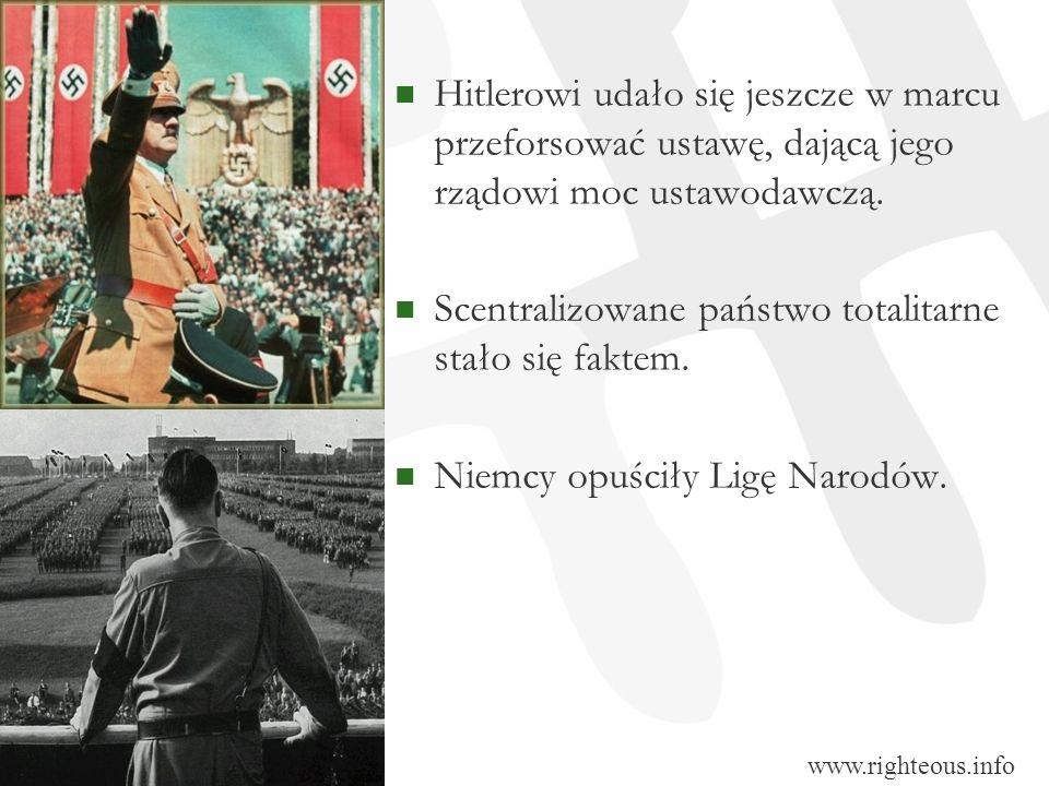 Scentralizowane państwo totalitarne stało się faktem.