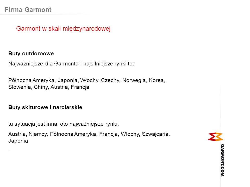 Firma Garmont Garmont w skali międzynarodowej Buty outdoroowe