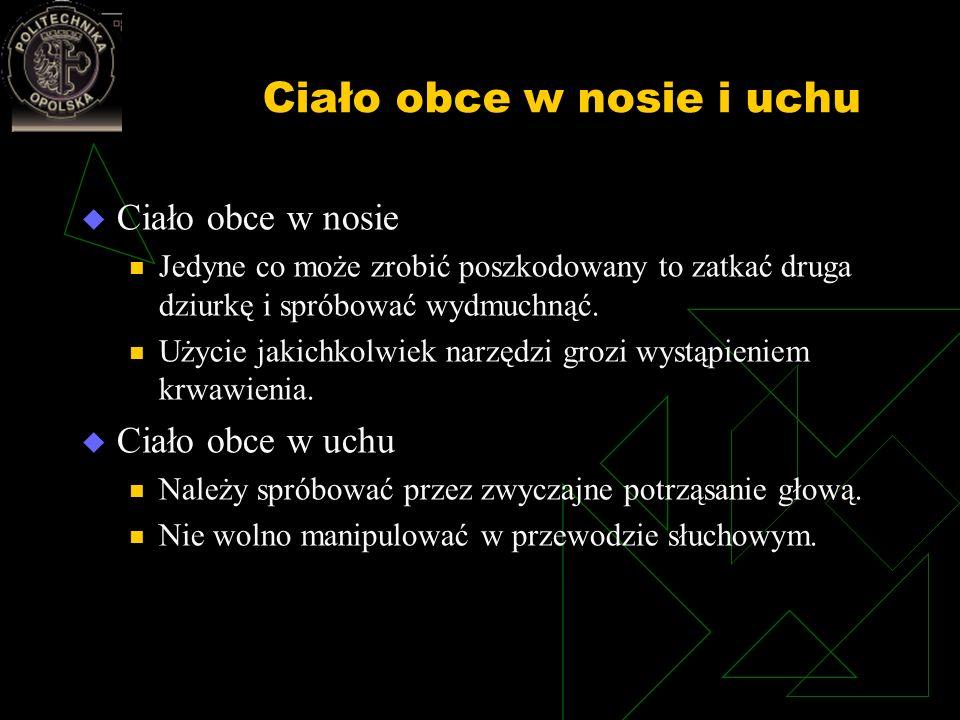 Ciało obce w nosie i uchu