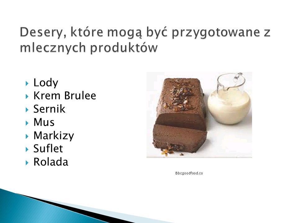 Desery, które mogą być przygotowane z mlecznych produktów