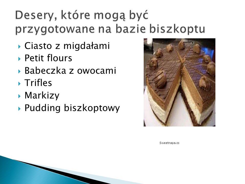 Desery, które mogą być przygotowane na bazie biszkoptu